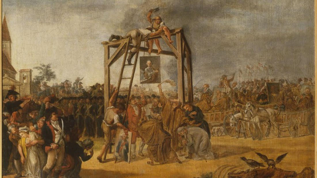 Jean-Pierre Norblin de La Gourdaine, Hanging of Traitors, 1794