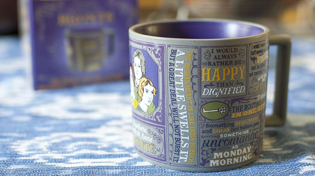 In addition to individual author mugs, there are also mugs decorated with famous first and last lines from classic books.