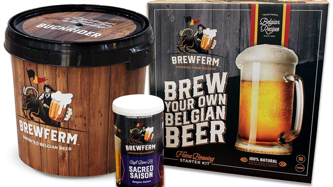Brewferm's beer-making kit comes with all of the important ingredients you'll need to make a Belgian-inspired saison.