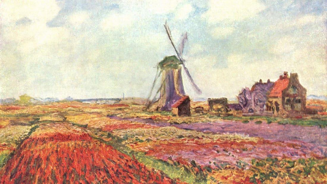 Tulip fields in Holland, Claude Monet (1886)