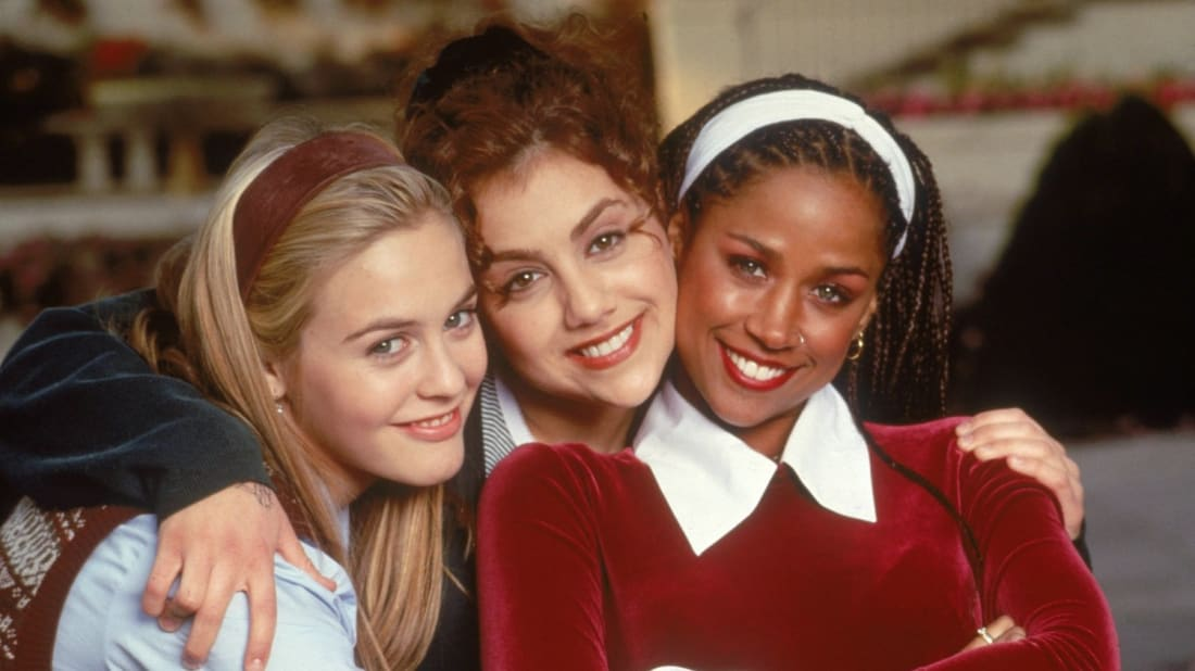 Alicia Silverstone, Brittany Murphy, and Stacey Dash star in Clueless (1995).