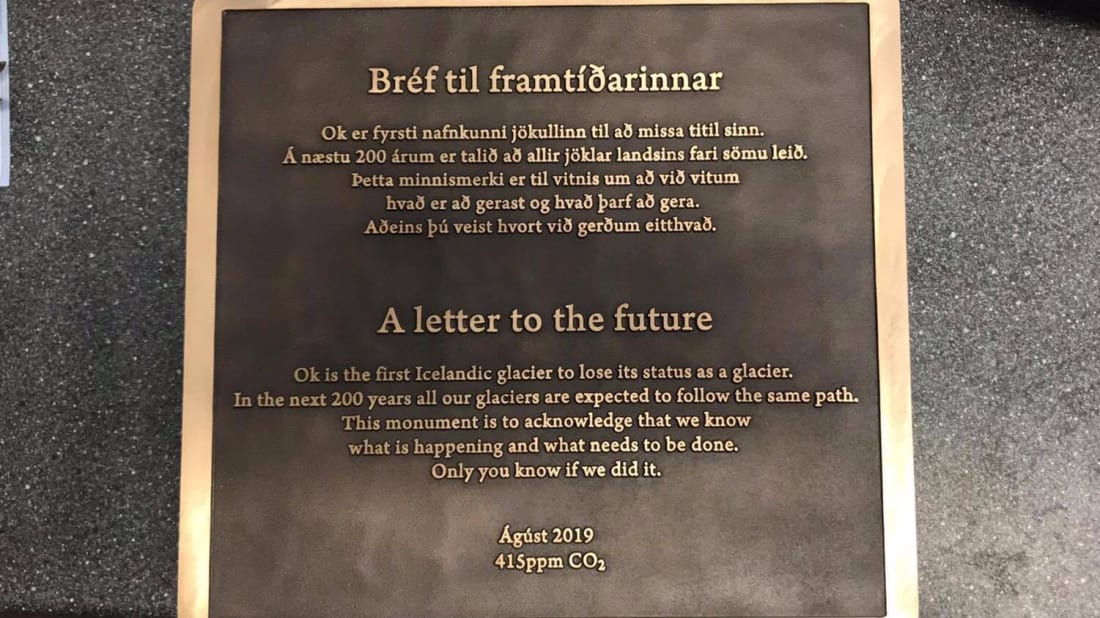 Iceland to Unveil a Plaque Dedicated to Okjökull, the First Glacier Killed By Climate Change