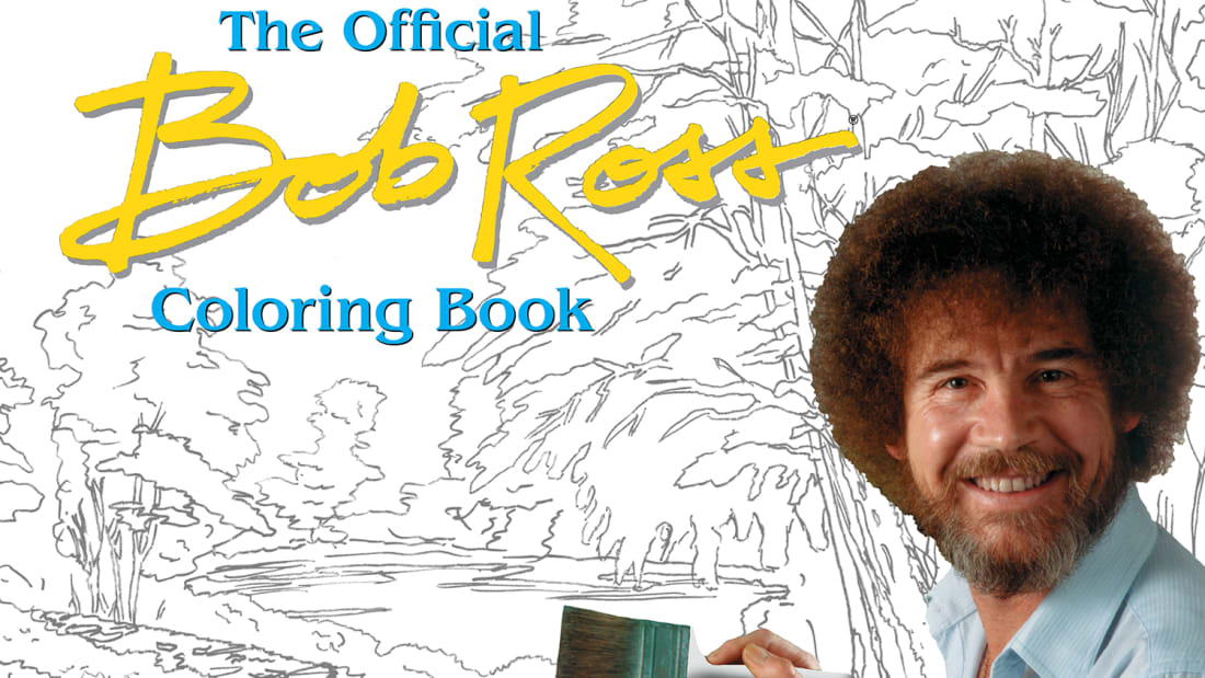 Get Crazy With The Official Bob Ross Coloring Book Mental