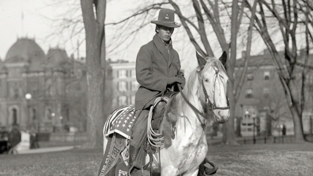 In 1914, Red Fox James rode from Montana to the White House to champion a celebration of America's indigenous peoples.