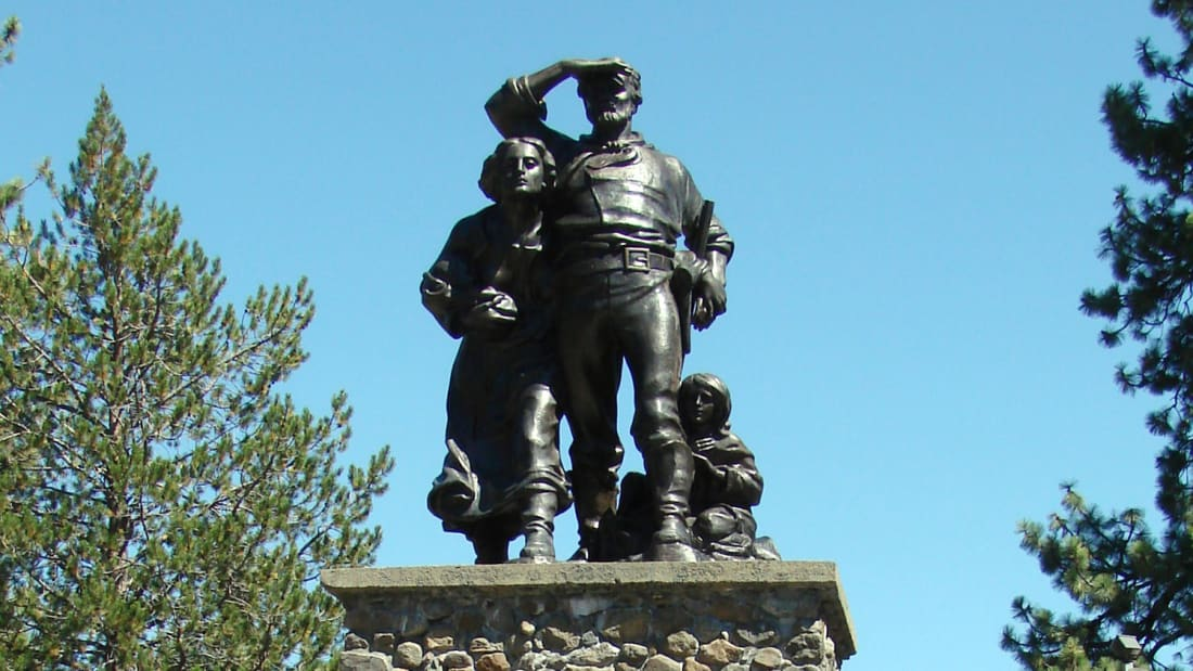 A Donner Party memorial in California.