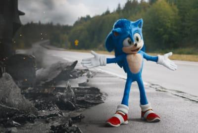 Ben Schwartz's Sonic in Sonic the Hedgehog (2020).