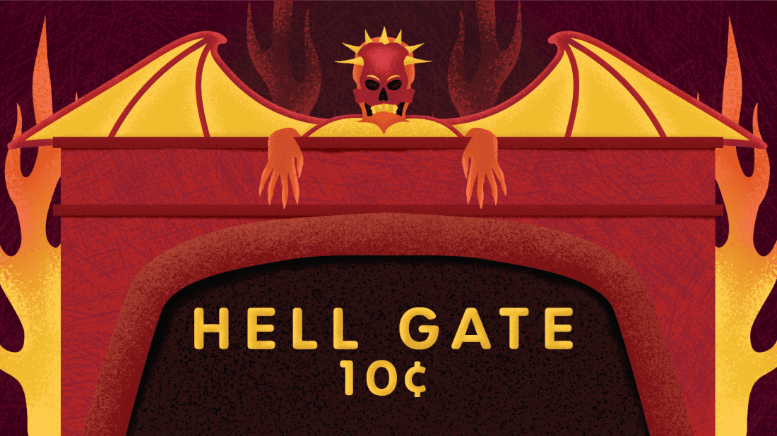 Coney Island's most unusual attraction, Hell Gate, debuted in 1905.
