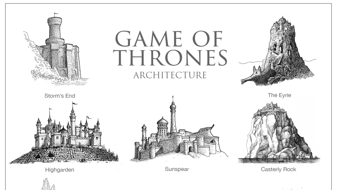 What the Architecture of Game of Thrones, Harry Potter, and Star Wars Looks Like as Pen-and-Paper Drawings