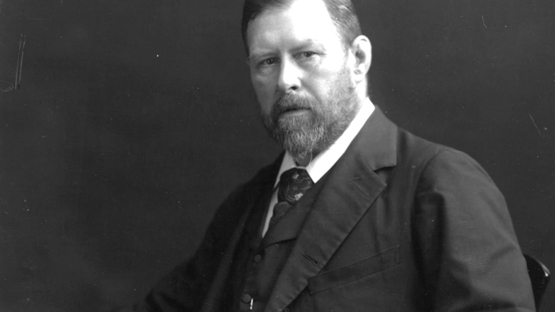 Bram Stoker is pictured a few years after publishing his masterpiece, Dracula.