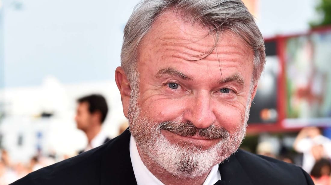 Sam Neill looking blissfully ignorant about Marvel lore.