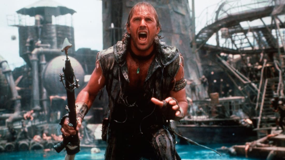 Kevin Costner stars in Waterworld (1995).