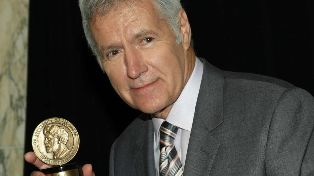 Alex Trebek at the Peabody Awards luncheon in 2012.