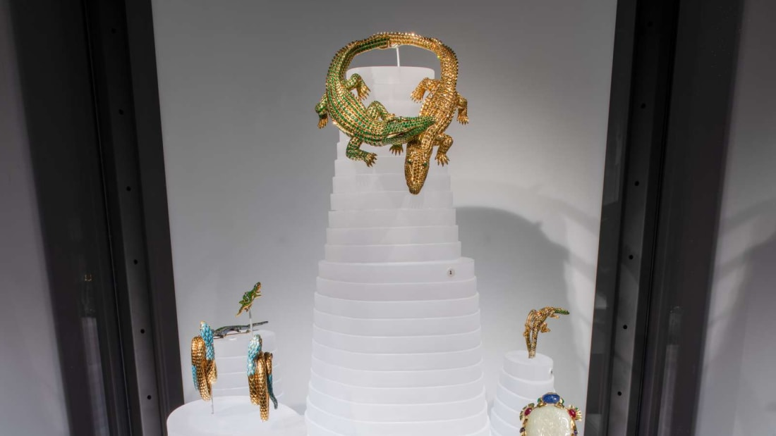 Animal-inspired jewelry at the American Museum of Natural History.