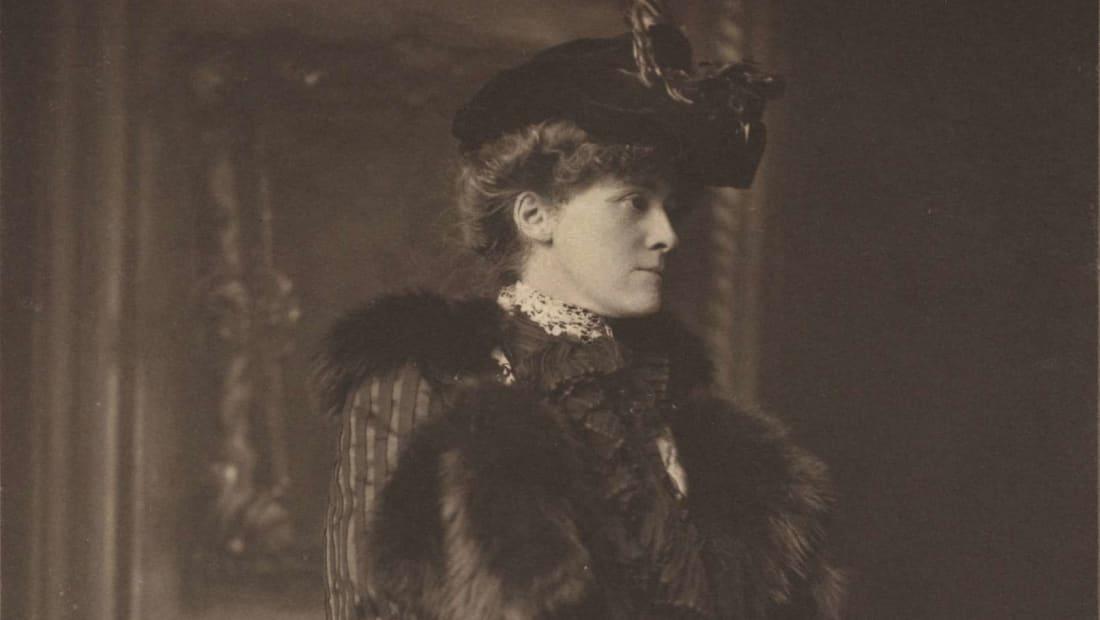 Edith Wharton in Newport, Rhode Island circa 1907.