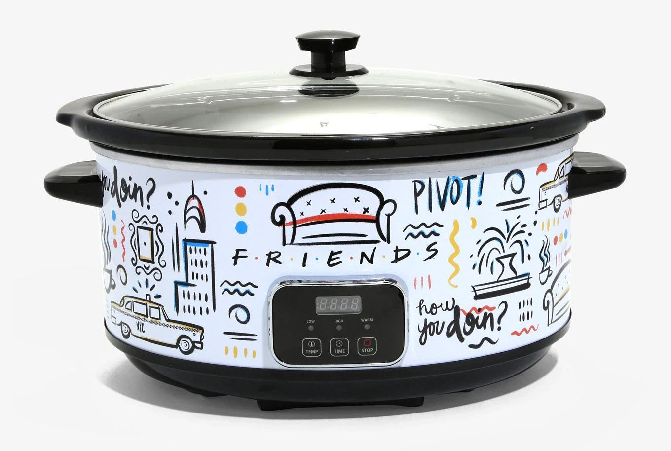 Channel Your Inner Chef Monica Geller With This <em>Friends</em>-Themed Slow Cooker