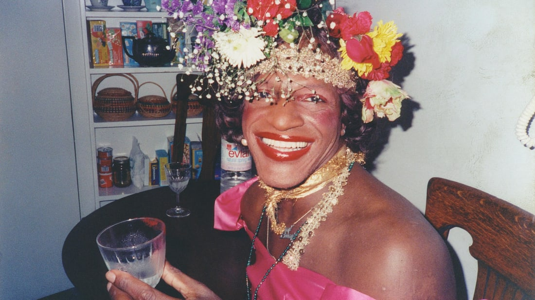 A photo of Marsha P. Johnson from the 2017 documentary The Death and Life of Marsha P. Johnson.