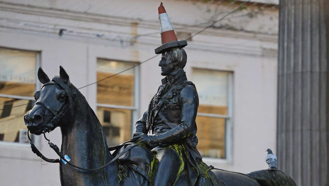 For decades, pranksters have plopped a cone atop the Duke of Wellington's head.