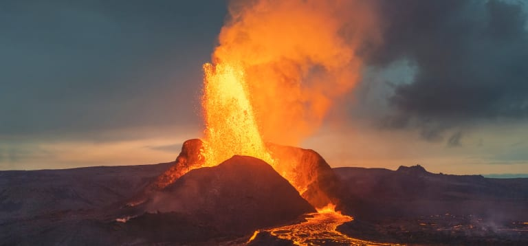 Volcanoes can change the world.