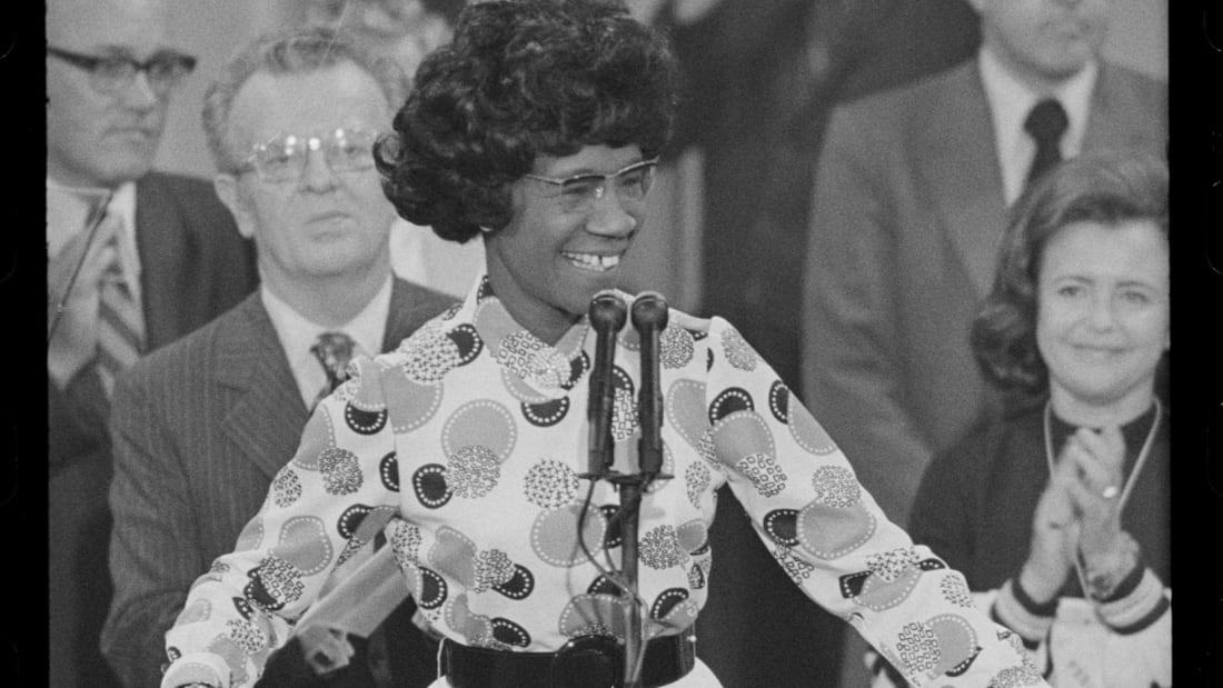 Shirley Chisholm speaks at the 1972 Democratic National Convention.