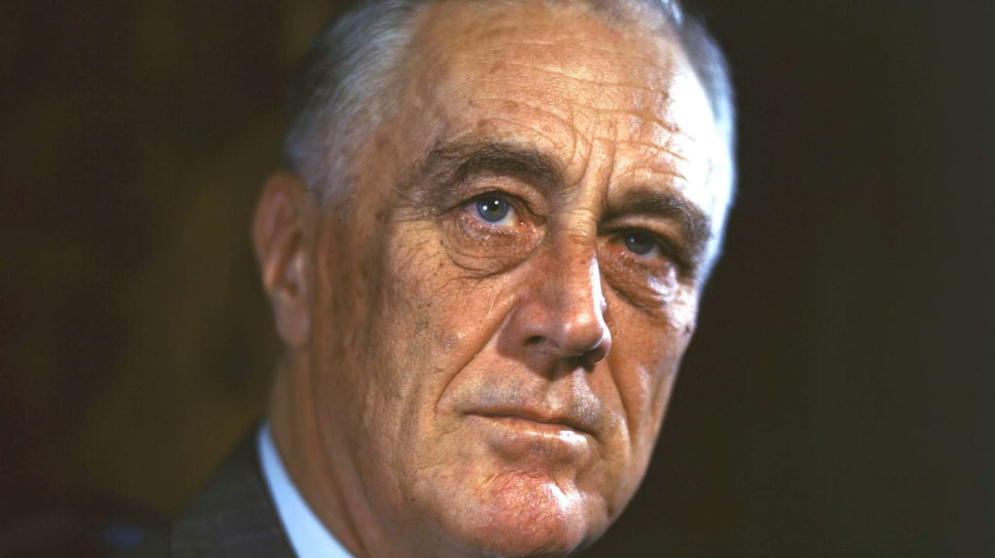 The official campaign portrait of Franklin Delano Roosevelt.