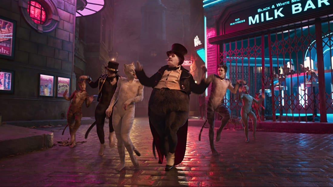 James Corden and others in Cats (2019).