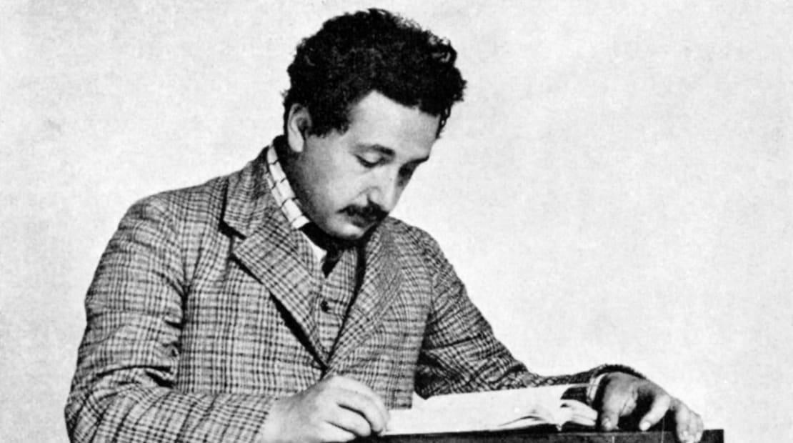 Albert Einstein photographed in 1905.