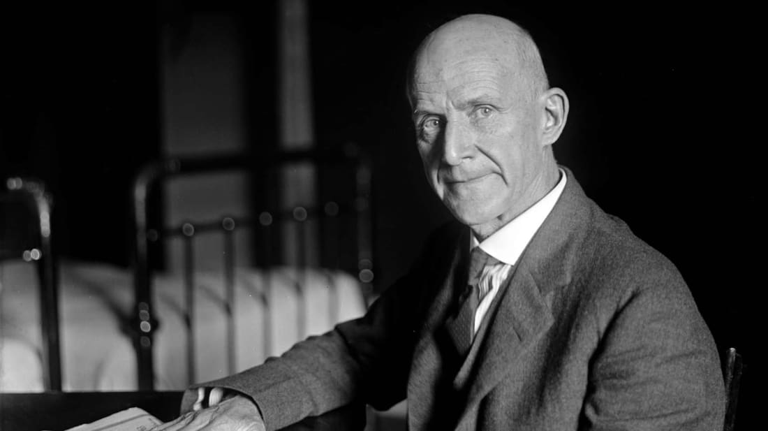 Eugene Debs ran for President of the United States five times from 1900 through 1920.