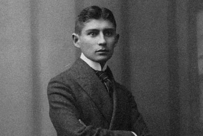 Franz Kafka thinking about burning all his works.