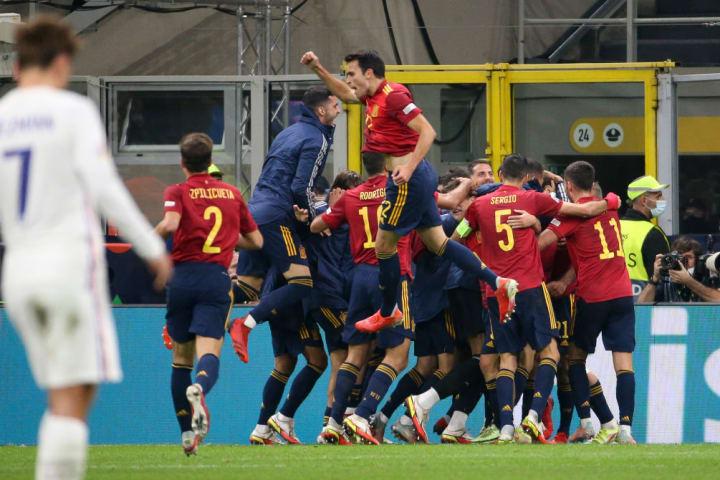Espanha comemora gol
