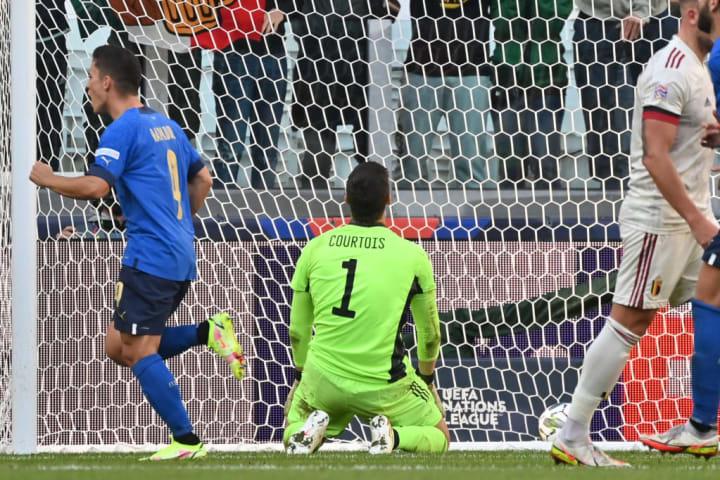 SOCCER NATIONS LEAGUE BELGIUM VS ITALY