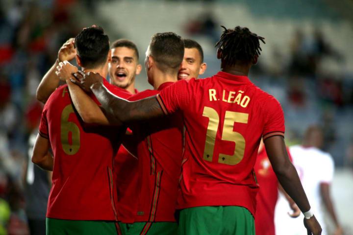 Portugal durante amistoso diante do Catar