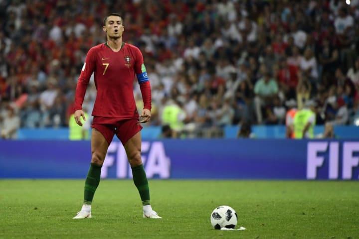 Cristiano Ronaldo'nun 88. dakikada attığı muhteşem frikik golü öncesi.