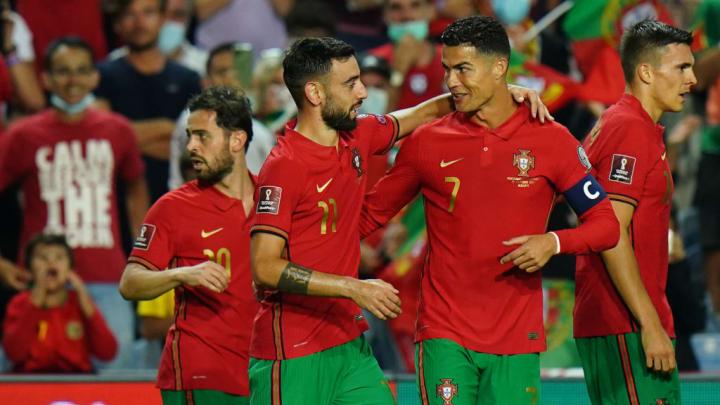 Bruno Fernandes, Cristiano Ronaldo, Joao Palhinha, Bernardo Silva