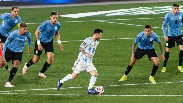 Lionel Messi Uruguai Argentina Eliminatórias Brasil Copa do Mundo