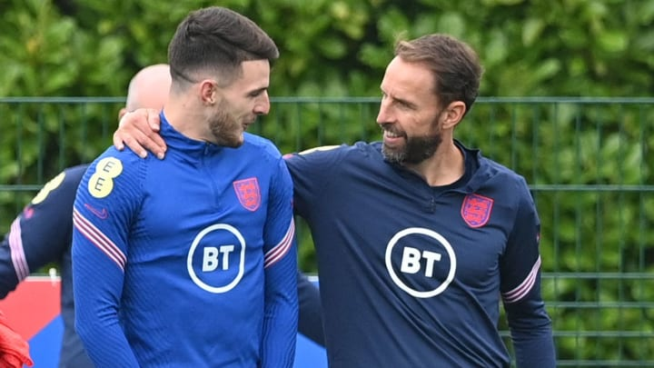 Gareth Southgate is impressed with how Declan Rice conducts himself