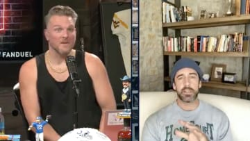 Pat McAfee and Aaron Rodgers