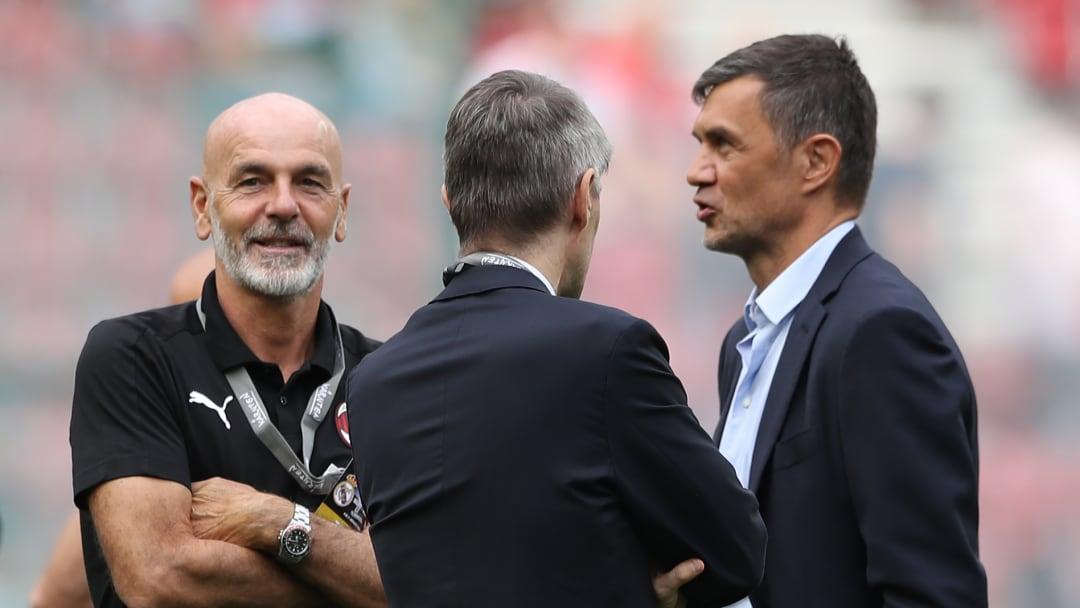 Stefano Pioli, Federico Massara e Paolo Maldini