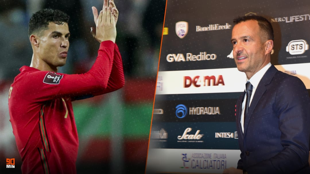 Jorge Mendes has backed Cristiano Ronaldo to win 2021 Ballon d'Or
