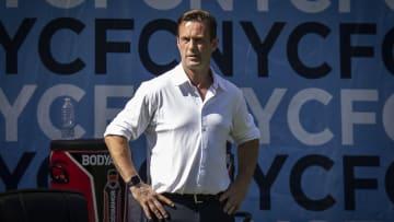 New York City FC head coach Ronny Deila prepares for the Hudson River Derby