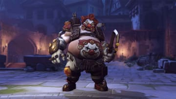 Clown Roadhog is available as a Week 3 challenge reward during the annual Overwatch Halloween Terror event this year.