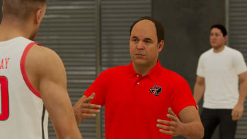 """""""2K22's MyPlayer is MP, a high school star with a hit social channel featuring videos of him embarrassing amateurs on the playground."""""""