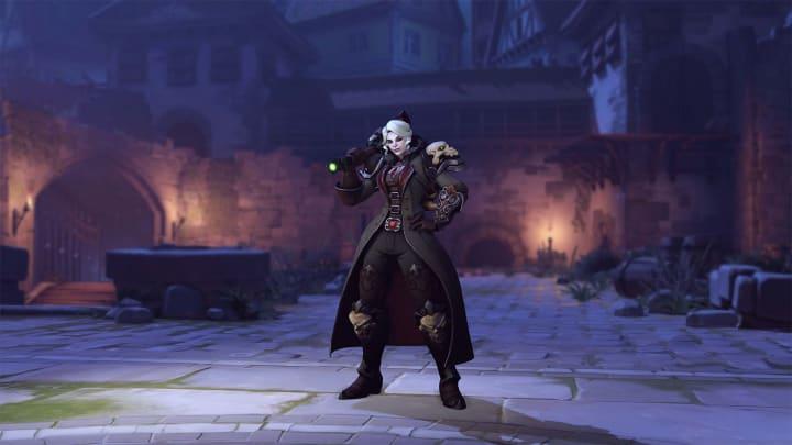 The new Vampire Hunter Brigitte Overwatch skin.