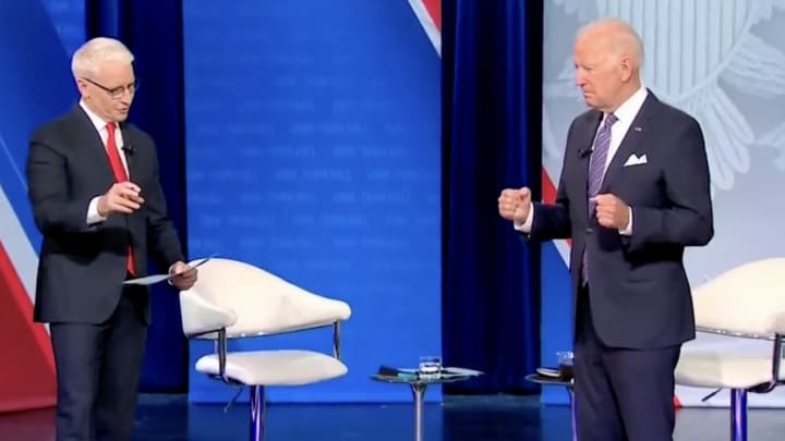 Anderson Cooper and Joe Biden.