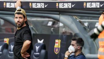Agüero todavía no ha podido debutar en el Barça
