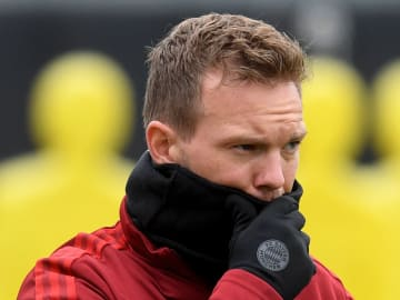 Nagelsmann wasn't on the touchline on Wednesday night