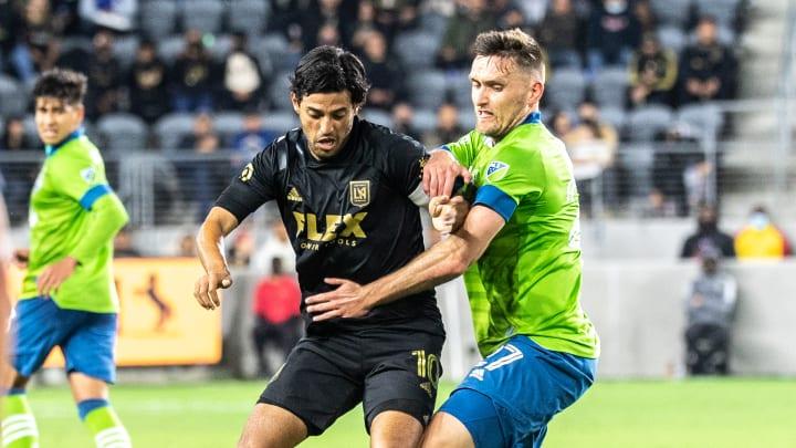 Carlos Vela volvió a la actividad en el Seattle Sounders v Los Angeles FC