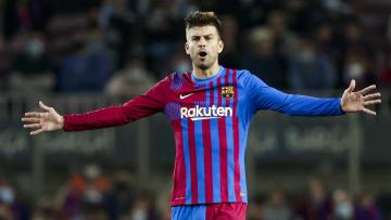 Gerard Piqué, l'un des seuls joueurs du Barça capable de marquer sur coup de pied arrêté.