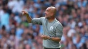 Guardiola on the touchline