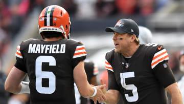 Case Keenum y Baker Mayfield son los quarterbacks de los Cleveland Browns