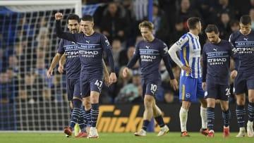 Foden scored twice in City's win at Brighton